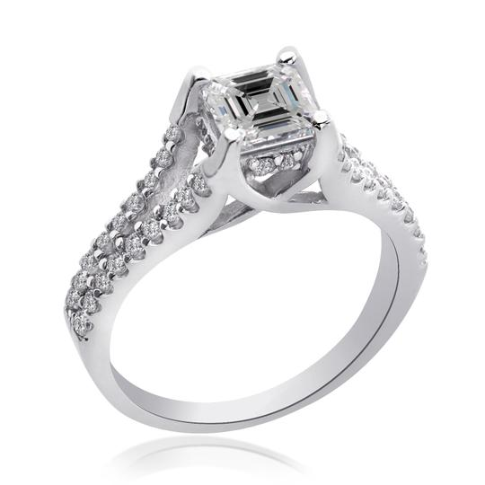 Avital & Co Jewelry H Vs2 1.35 Carat Asscher Cut Diamond 14k White Gold Engagement Ring Image 4