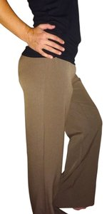 Worthington Petite Suit Work Outfit Trouser Pants Brown champagne