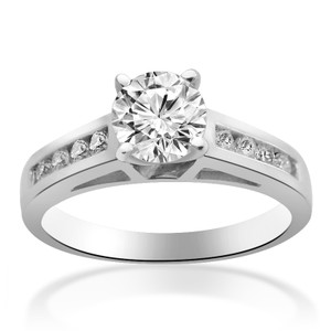 Avital & Co Jewelry 1.05 Carat H-vs2 Round Brilliant Cut Diamond Engagement Ring 14k White Gold