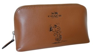 Coach Snoopy peanuts limited edition calfskin cosmetic bag