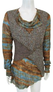 Feratelli Longsleeve Cowl Neck Textured Sweater