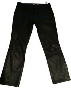 Vanessa Bruno Leather Capri/Cropped Pants Black