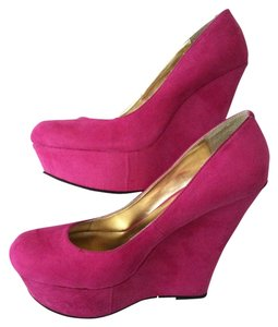 JustFab Pink Wedges