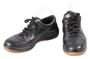 Louis Vuitton Leather Thick Sole Sneakers Black Athletic