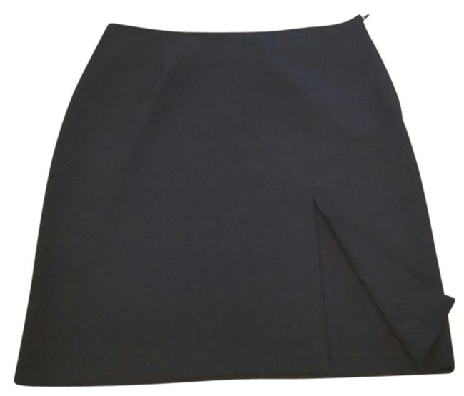 Sisley Slit Work Skirt black