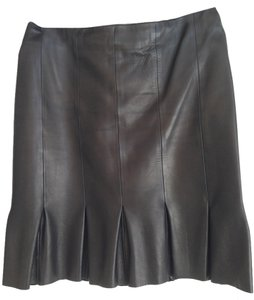 Cesare Fabbri Leather Lining Mini Skirt Chocolate Brown