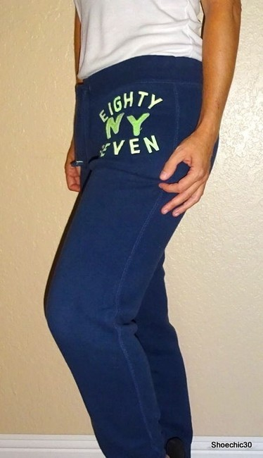 Aéropostale Fintess Beach Yoga Athletic Pants Navy Blue Green Image 2