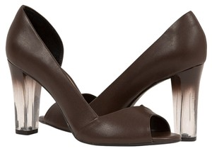 MS Shoe Designs Chocolate Brown Pumps