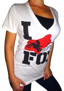 Fox Racing Motocross T Shirt White red black