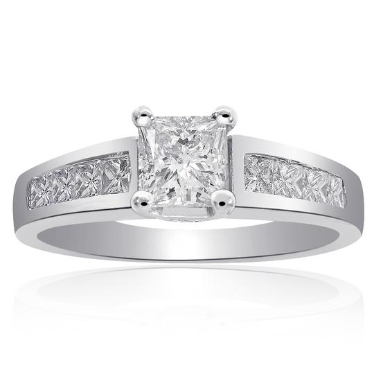 Preload https://img-static.tradesy.com/item/13592551/avital-and-co-jewelry-14k-white-gold-125-carat-f-si2-natural-princess-cut-diamond-14k-w-engagement-r-0-0-540-540.jpg