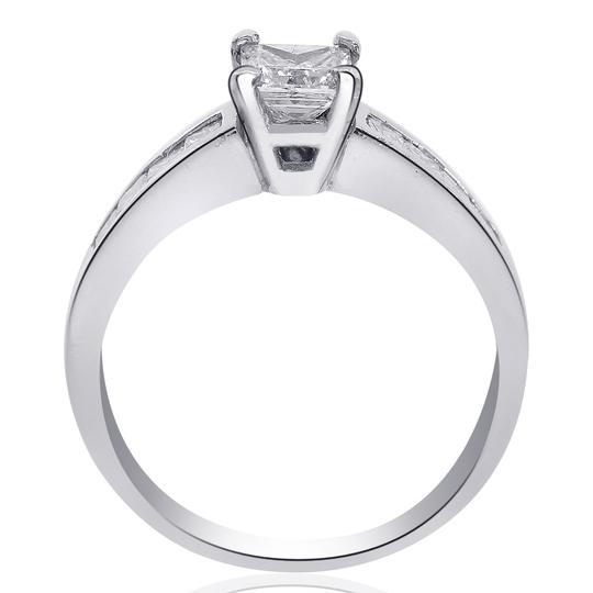 Avital & Co Jewelry 14k White Gold W 1.25 Carat F-si2 Natural Princess Cut Diamond 14k-w Engagement Ring Image 1