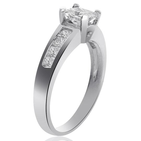 Avital & Co Jewelry 14k White Gold W 1.25 Carat F-si2 Natural Princess Cut Diamond 14k-w Engagement Ring Image 2