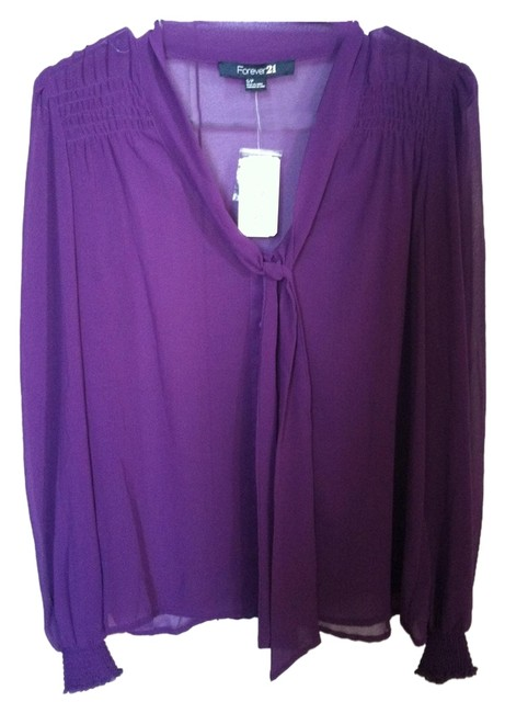 Preload https://item3.tradesy.com/images/forever-21-purple-blouse-size-4-s-1359262-0-0.jpg?width=400&height=650