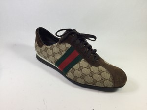 Gucci Canvas/suede Lace Up Brown Athletic