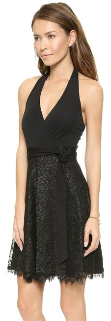 Preload https://img-static.tradesy.com/item/13592761/diane-von-furstenberg-black-amelia-lace-skirt-halter-wrap-new-with-tags-retail-above-knee-cocktail-d-0-1-650-650.jpg