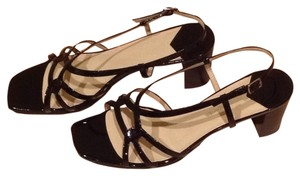 Easy Spirit Black Patent Sandals