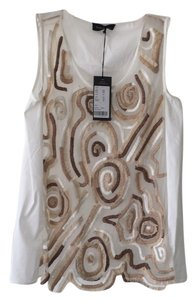 Piazza Sempione Top White with beige and brown