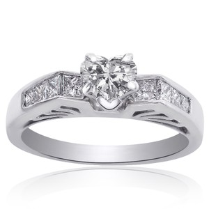 Avital & Co Jewelry 1.05 Carat G-vs2 Natural Heart Shape Diamond Engagement Ring 14k White Gold