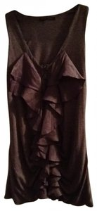 Pure Sugar Sweet Fiercec Trendy Silky Sleeveless Lovely Top Lighter Chocolate brown