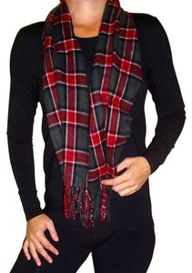 Forecaster of Boston Forecaster of Boston red black winter plaid men's women's vintage flannel scarf