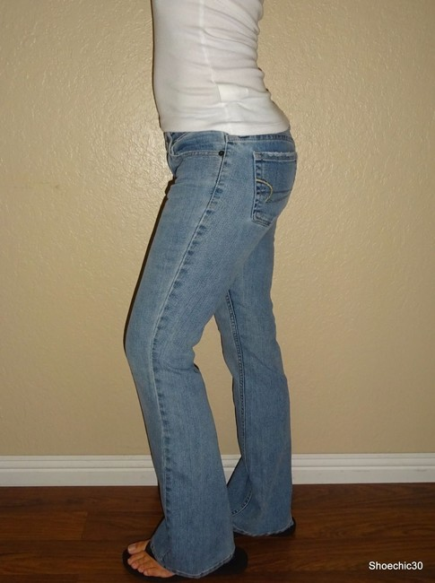 American Eagle Outfitters Vintage Date Night Flare Leg Jeans-Light Wash Image 1