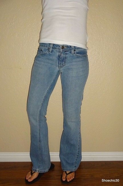 American Eagle Outfitters Vintage Date Night Flare Leg Jeans-Light Wash Image 2