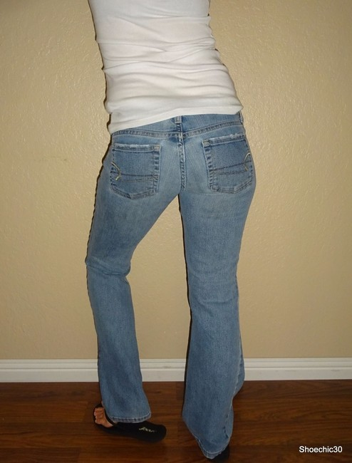 American Eagle Outfitters Vintage Date Night Flare Leg Jeans-Light Wash Image 3