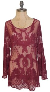 Saint Tropez West Lace Sheer Floral Tunic