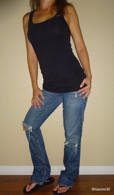 American Eagle Outfitters Night Trending Straight Leg Jeans-Medium Wash Image 1