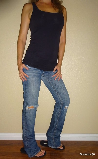American Eagle Outfitters Night Trending Straight Leg Jeans-Medium Wash Image 2