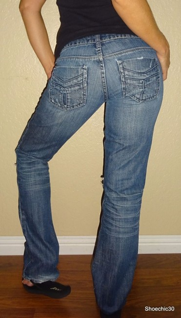 American Eagle Outfitters Night Trending Straight Leg Jeans-Medium Wash Image 4