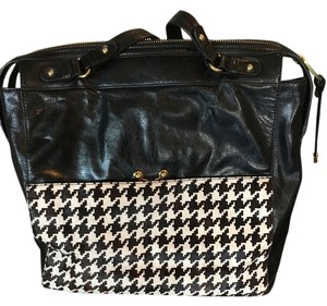 Badgley Mischka Tote in Black and White Houndstooth