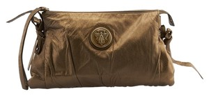 Gucci Hysteria Leather Bronze Clutch