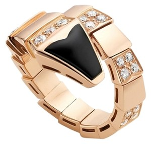 BVLGARI BVLGARI SERPENTI 18K ROSE GOLD DIAMOND RING AN855315 SMALL