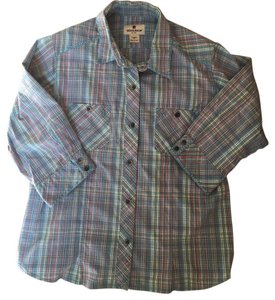 Woolrich Button Down Shirt Blue, pink, yellow
