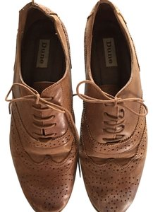 Dune London Brown leather Flats