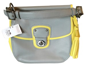 Coach Satchel in Yellow/Gray