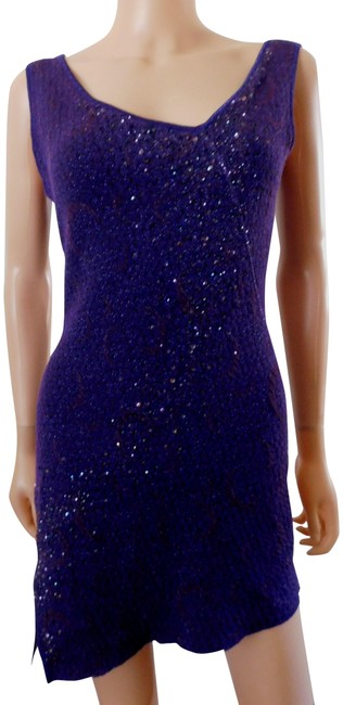 Preload https://img-static.tradesy.com/item/1359423/nina-ricci-purple-new-sequined-knit-asymmetric-evening-cocktail-short-night-out-dress-size-10-m-0-2-650-650.jpg