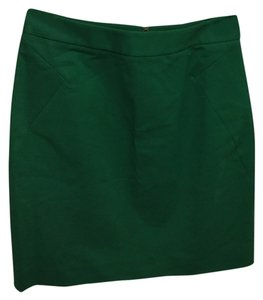 Kate Spade Lined Back Zipper Mini Mini Skirt Green