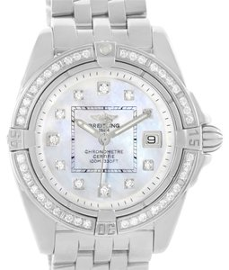 Breitling Breitling Windrider Cockpit Mother Pearl Diamond Womens Watch A71356