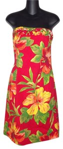 Ralph Lauren short dress Red Hibiscus Summer on Tradesy