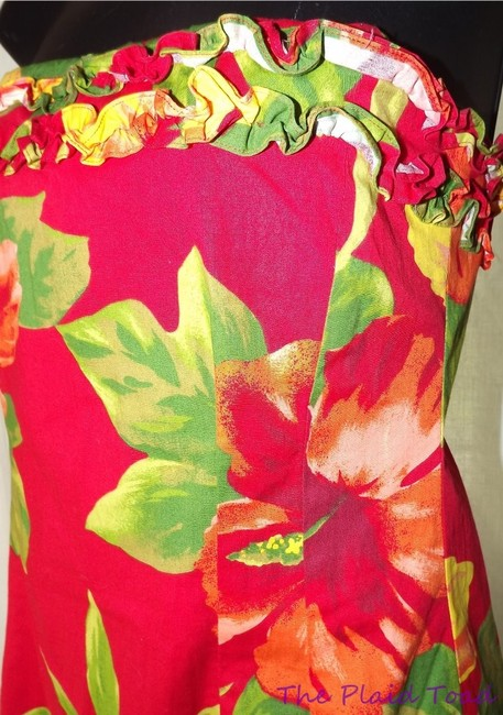 Ralph Lauren short dress Red Hibiscus Summer Vacation Hacienda on Tradesy