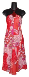 Red Maxi Dress by Banana Republic Floral Halter Summer Sexy