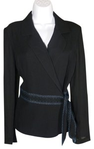 ECI New York Silk Formal Black Blazer