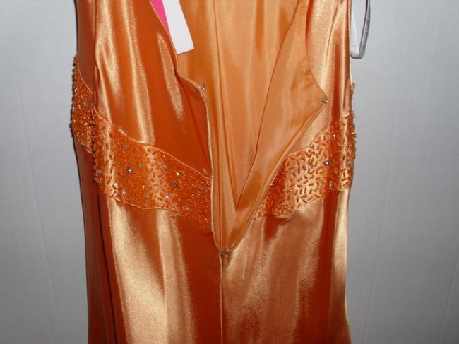 Morgan & Co Melon Sequin Plunge Holiday Dress