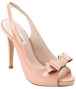 L.K. Bennett European Leather Heels Color Blush Pumps