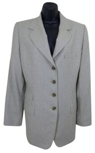 Ellen Tracy Linda Allard Wool Blend Professional Career Gray Blazer