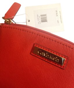 Calvin Klein CK Calvin Klein leather makeup cosmetic bag new with tag