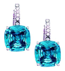City by City Faux Blue Topaz & Diamond Earring (Cubic Zirconia)