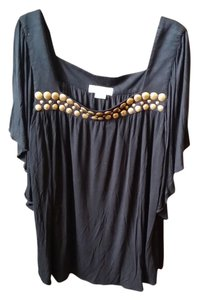Michael Kors Top Black with gold colored accents